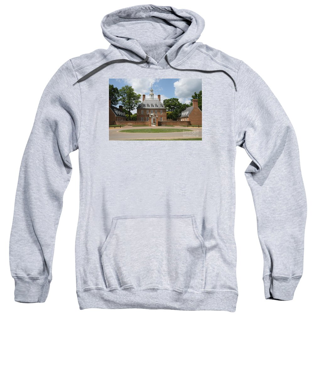 Governer Sweatshirt featuring the photograph Governers Palace - Williamsburg Va by Christiane Schulze Art And Photography