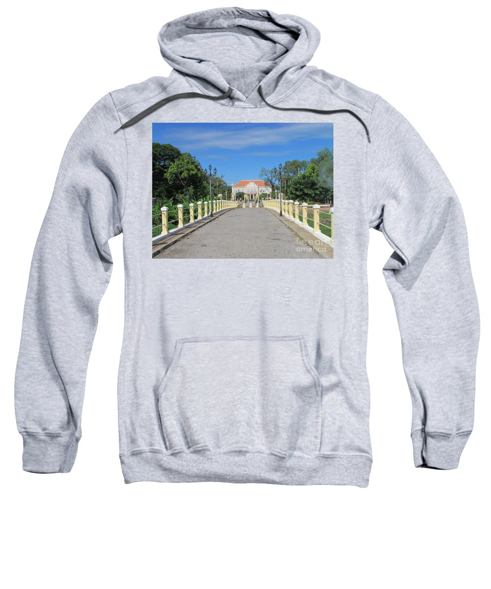 Colonial Sweatshirt featuring the photograph Governor Mansion In Battambang Cambodia by Julien Viry