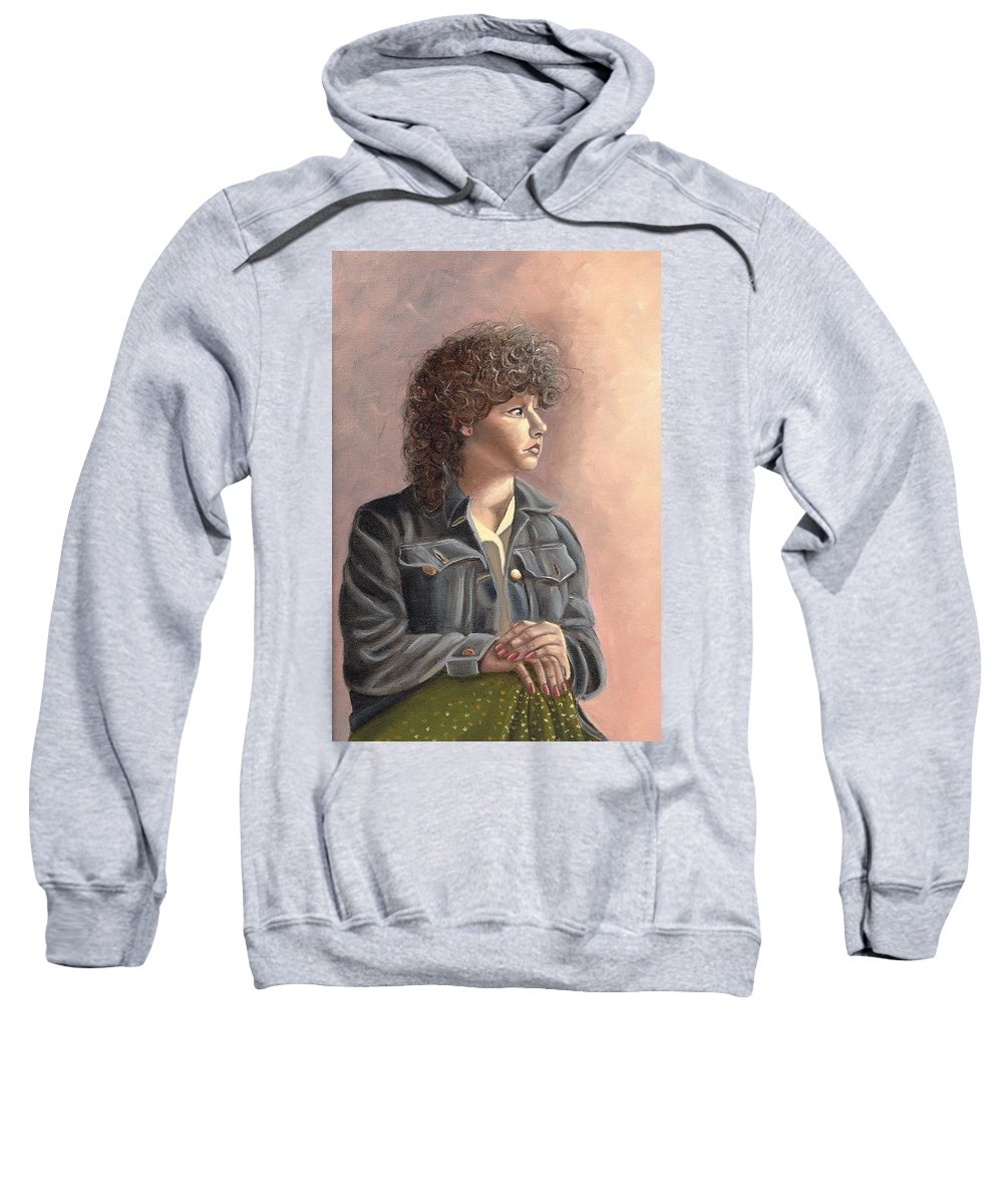 Sweatshirt featuring the painting Grace by Toni Berry