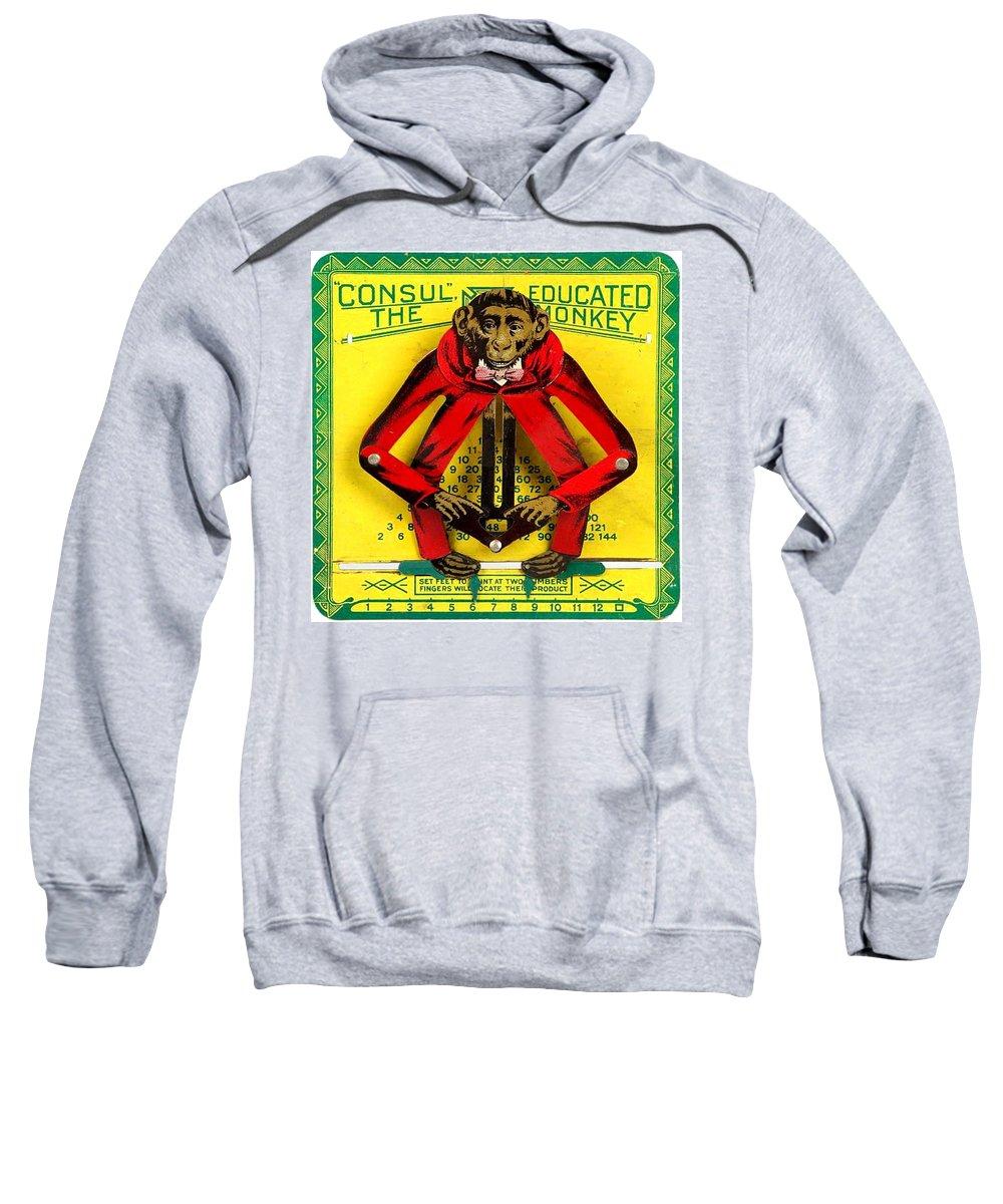 Monkey Sweatshirt featuring the digital art Graduation Monkey by Marianne Dow