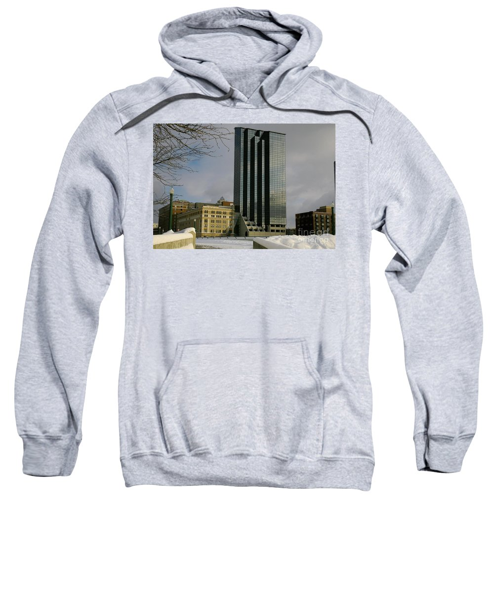 Land Scape Grand Hotel City Sweatshirt featuring the photograph Grand Rapids Mi-4 by Robert Pearson