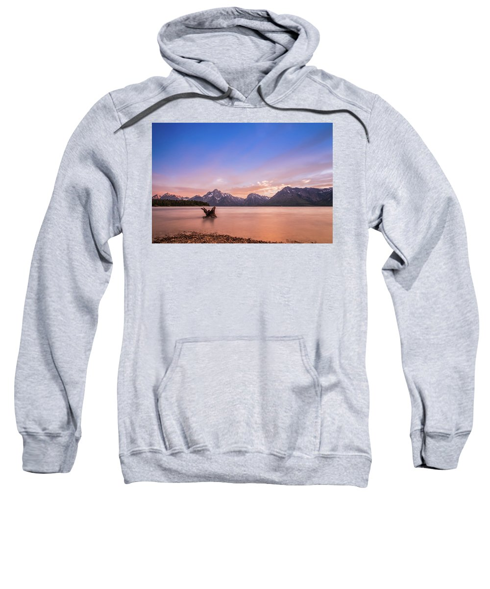 Grand Teton Sweatshirt featuring the photograph Grand Teton National Park by Carlos Cano