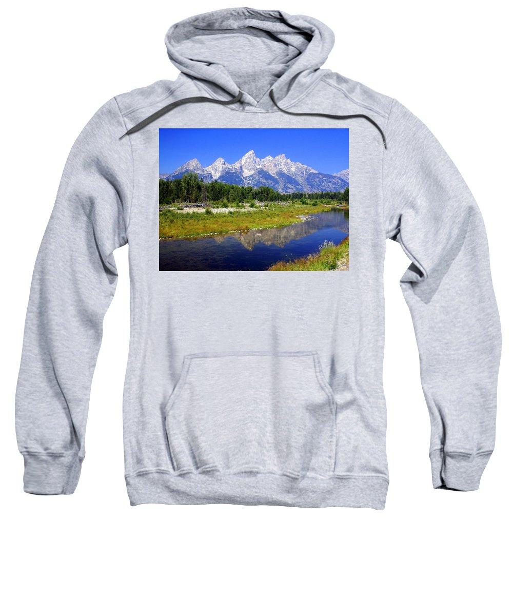 Grand Teton National Park Sweatshirt featuring the photograph Grand Tetons by Marty Koch