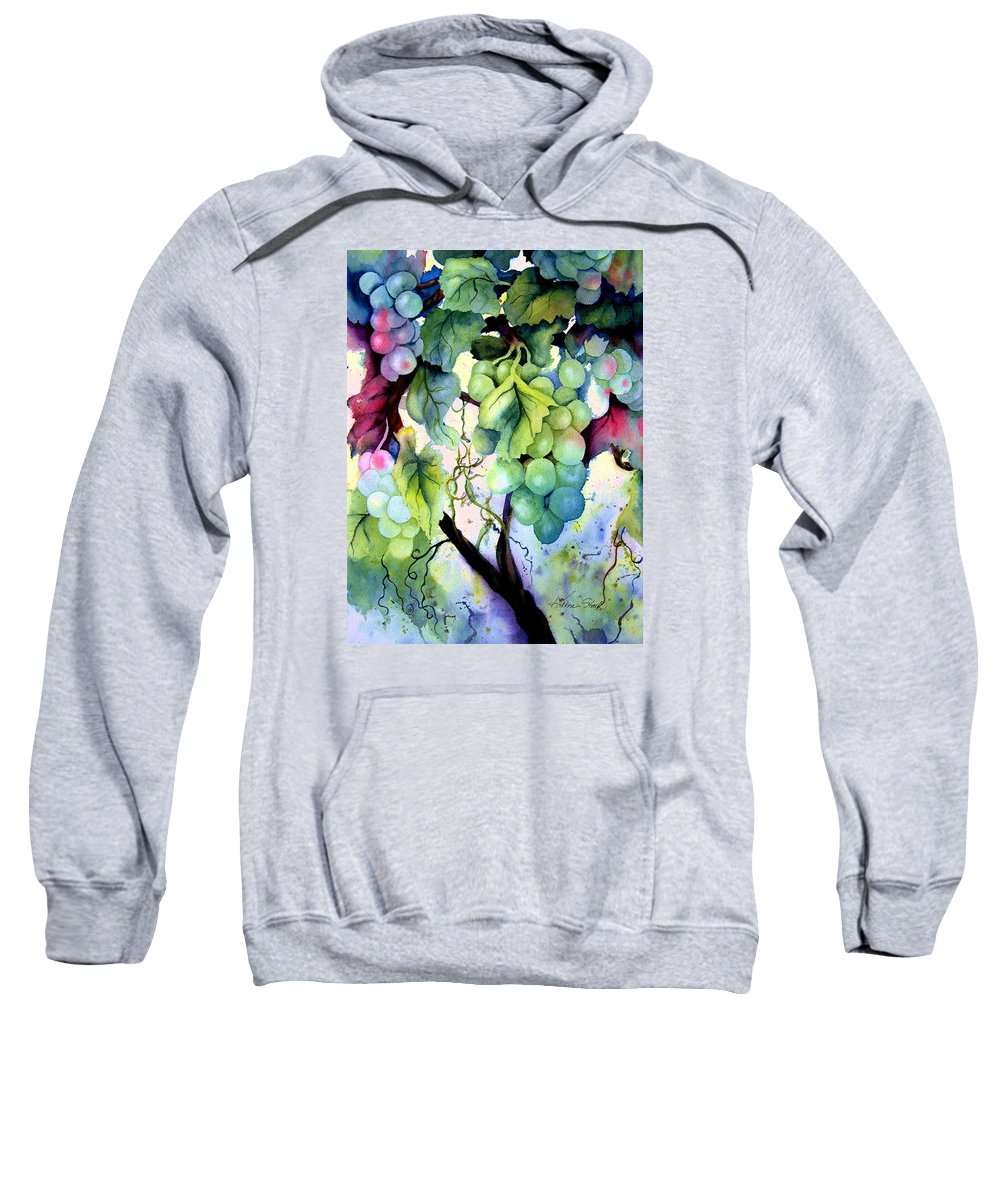Grapes Sweatshirt featuring the painting Grapes II by Karen Stark