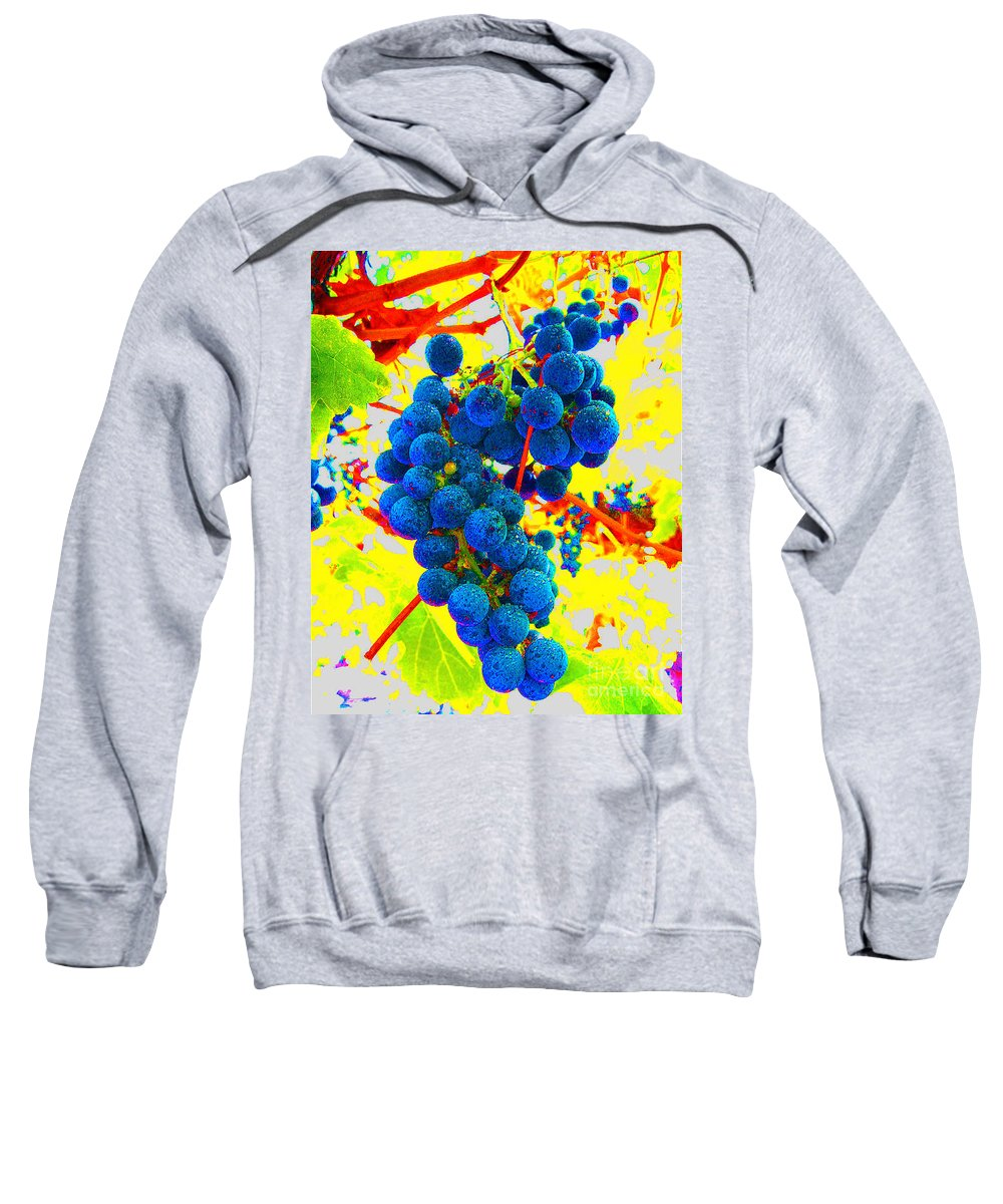 Grapes Sweatshirt featuring the photograph Grapes by Jerome Stumphauzer