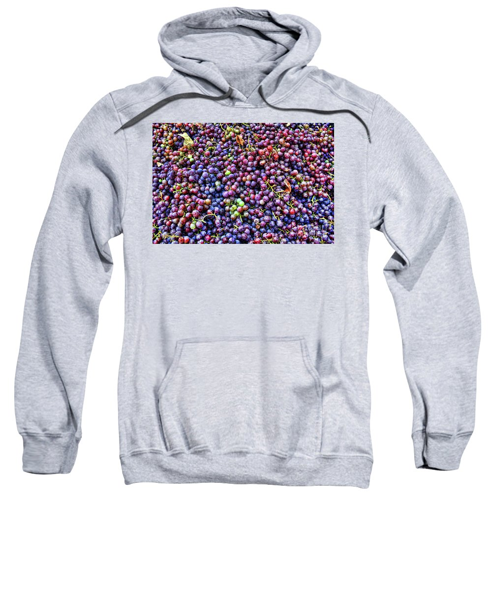Grapes Sweatshirt featuring the photograph Wine Before It's Time by Perry Hodies III