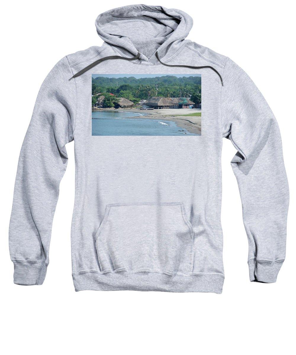 Grass Sweatshirt featuring the photograph Grass Huts Colombia by Brett Winn