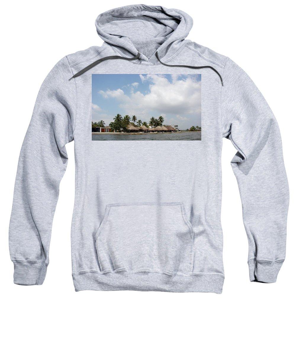 Grass Sweatshirt featuring the photograph Grass Huts Colombia II by Brett Winn