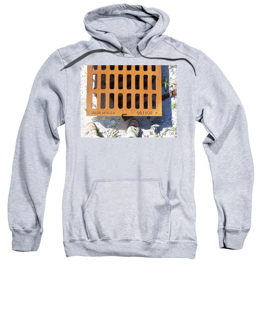 Pattern Sweatshirt featuring the photograph Grate In Summer Sun by Laurie Paci