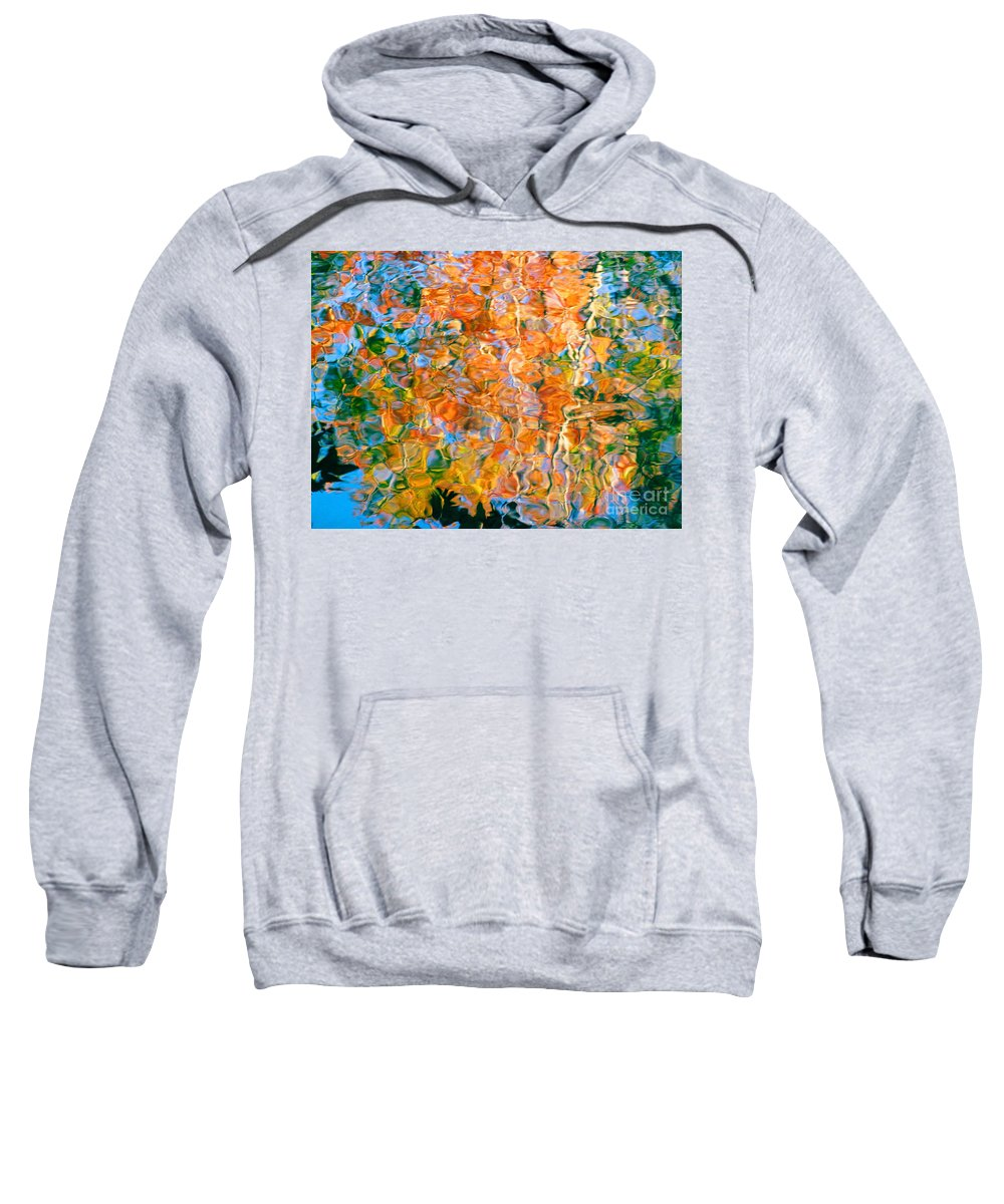 Colorful Liquid Sweatshirt featuring the photograph Grateful Heart by Sybil Staples