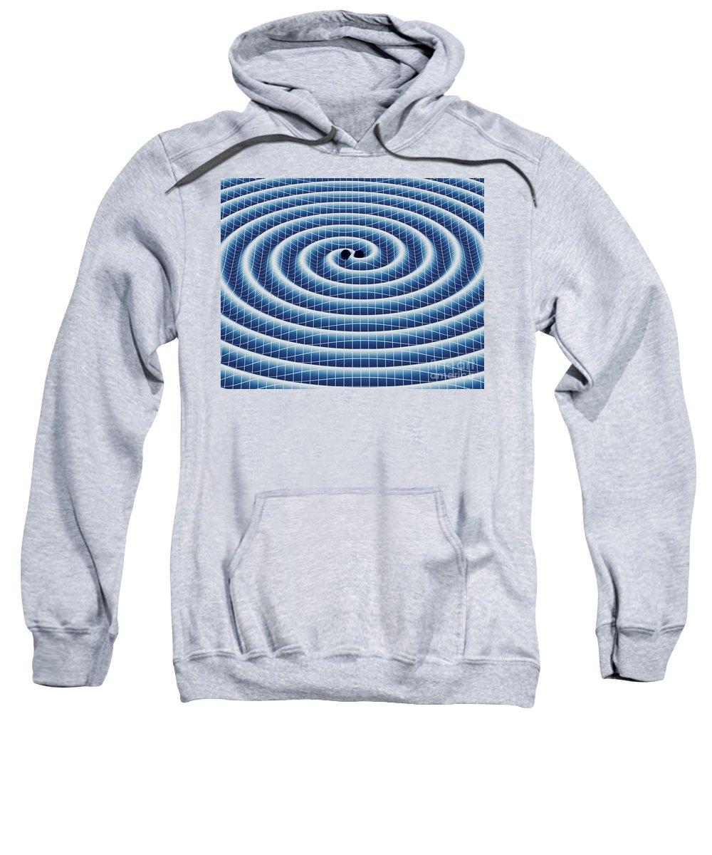 Gravity Sweatshirt featuring the digital art Gravitational Waves by DigitalPixel