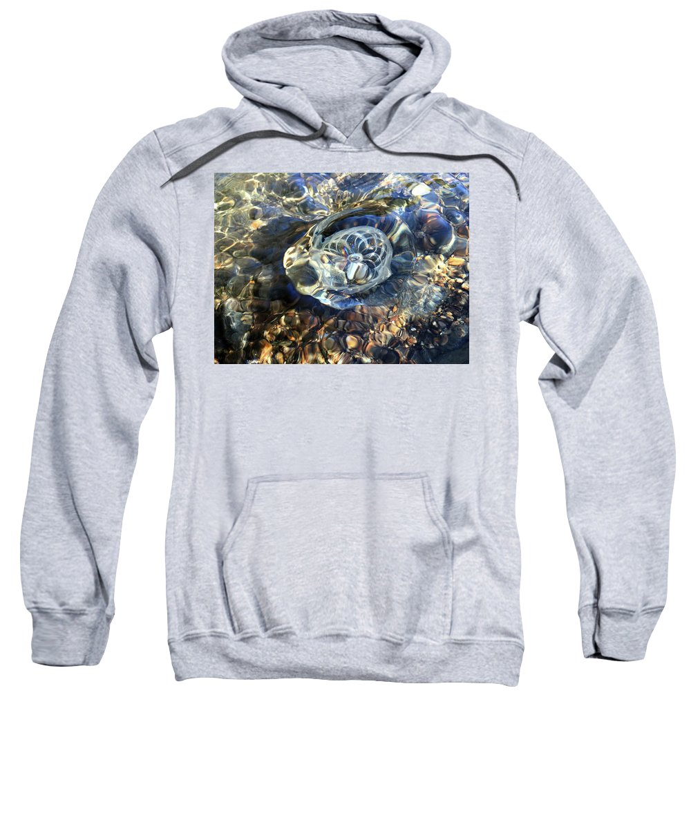 Glass Sweatshirt featuring the photograph Gravitron Warped One by Sue Reed