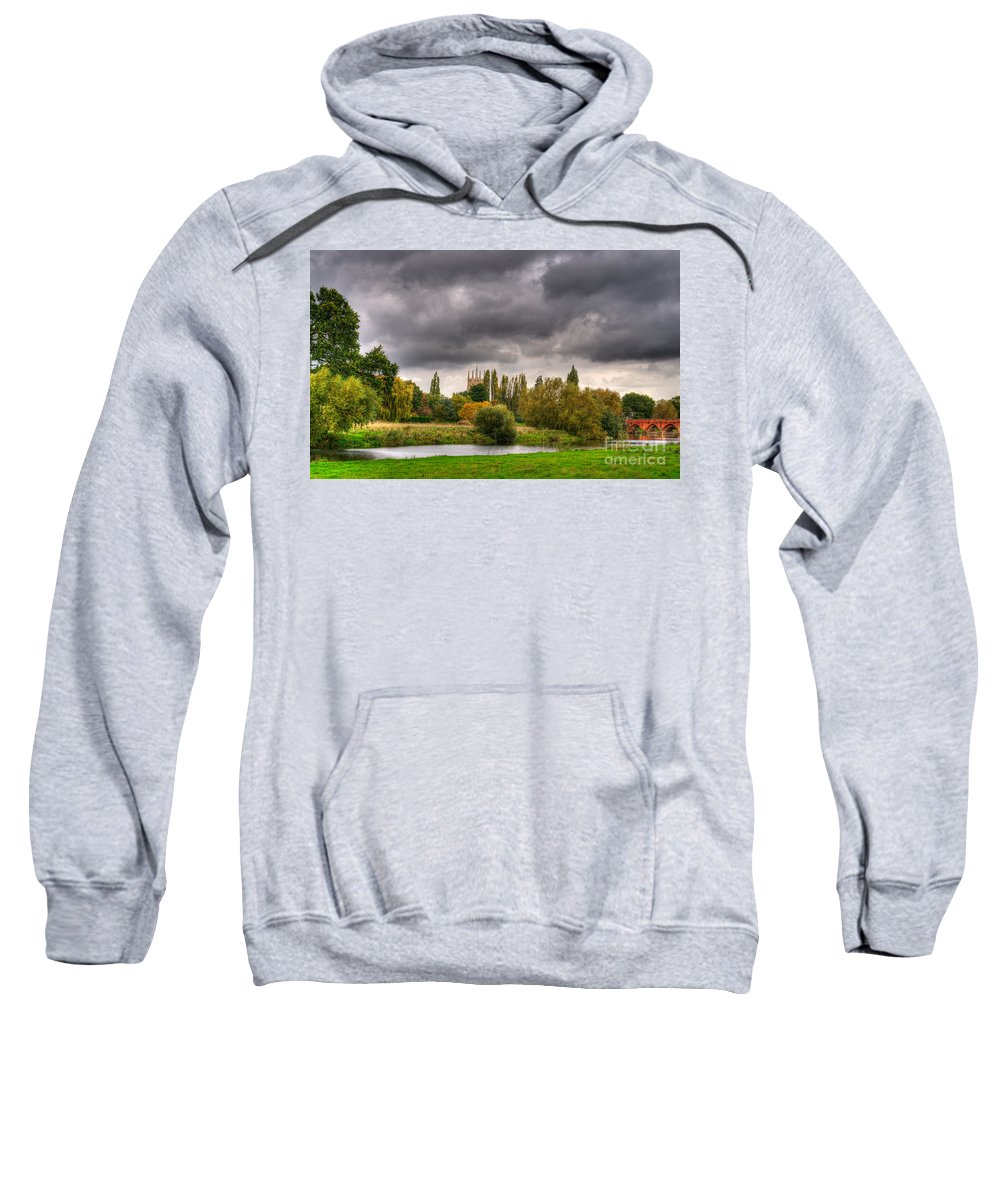 Bridge Sweatshirt featuring the photograph Great Barford River View by Chris Thaxter