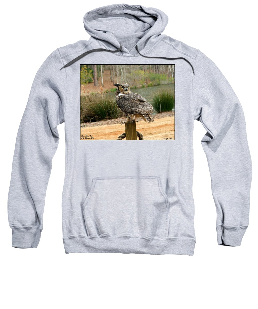 Wildlife Sweatshirt featuring the photograph Great Horned Owl 1 by Robert Meanor