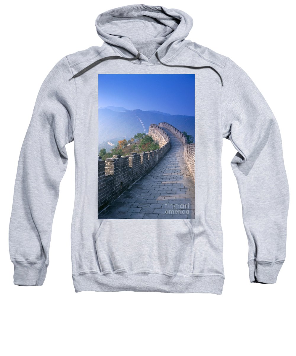 Asian Art Sweatshirt featuring the photograph Great Wall Of China by Gloria and Richard Maschmeyer - Printscapes