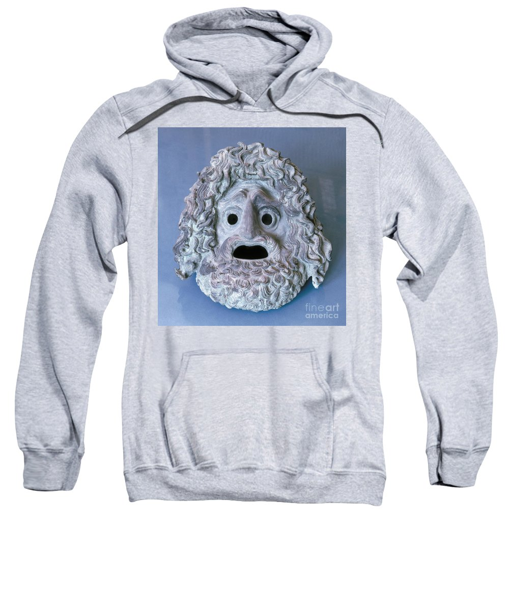 Ancient Sweatshirt featuring the photograph Greece: Theatrical Mask by Granger