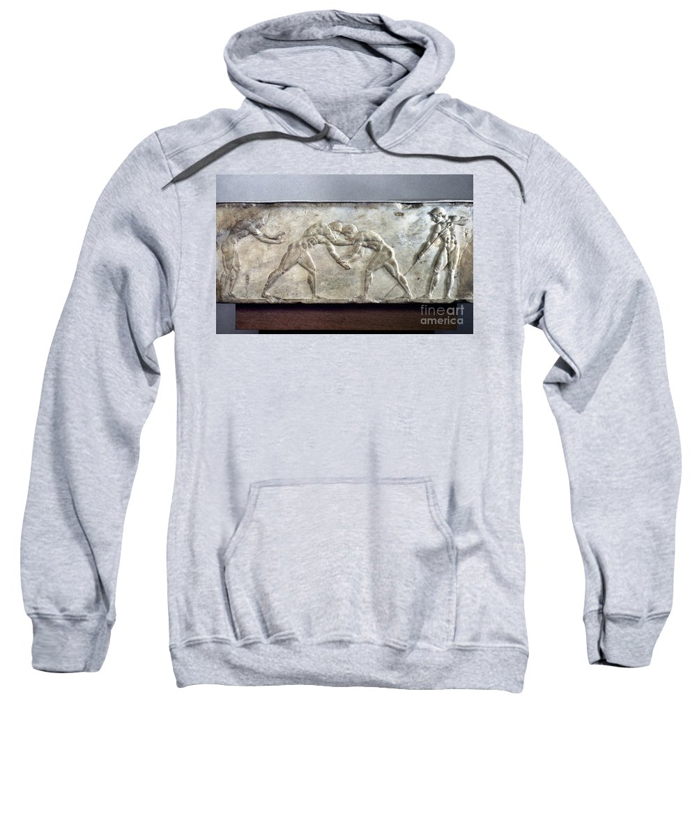 Ancient Sweatshirt featuring the photograph Greece: Wrestlers by Granger