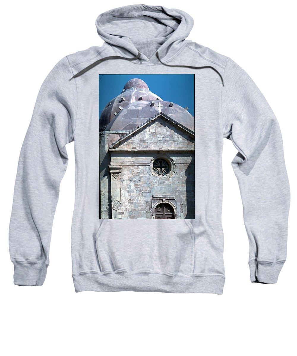 Greek Orthodox Church Sweatshirt featuring the photograph Greek Orthodox Church by Flavia Westerwelle
