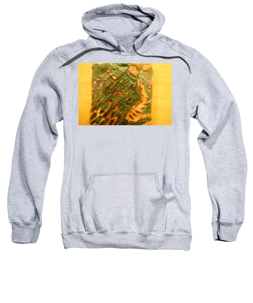 Jesus Sweatshirt featuring the ceramic art Green - Tile by Gloria Ssali