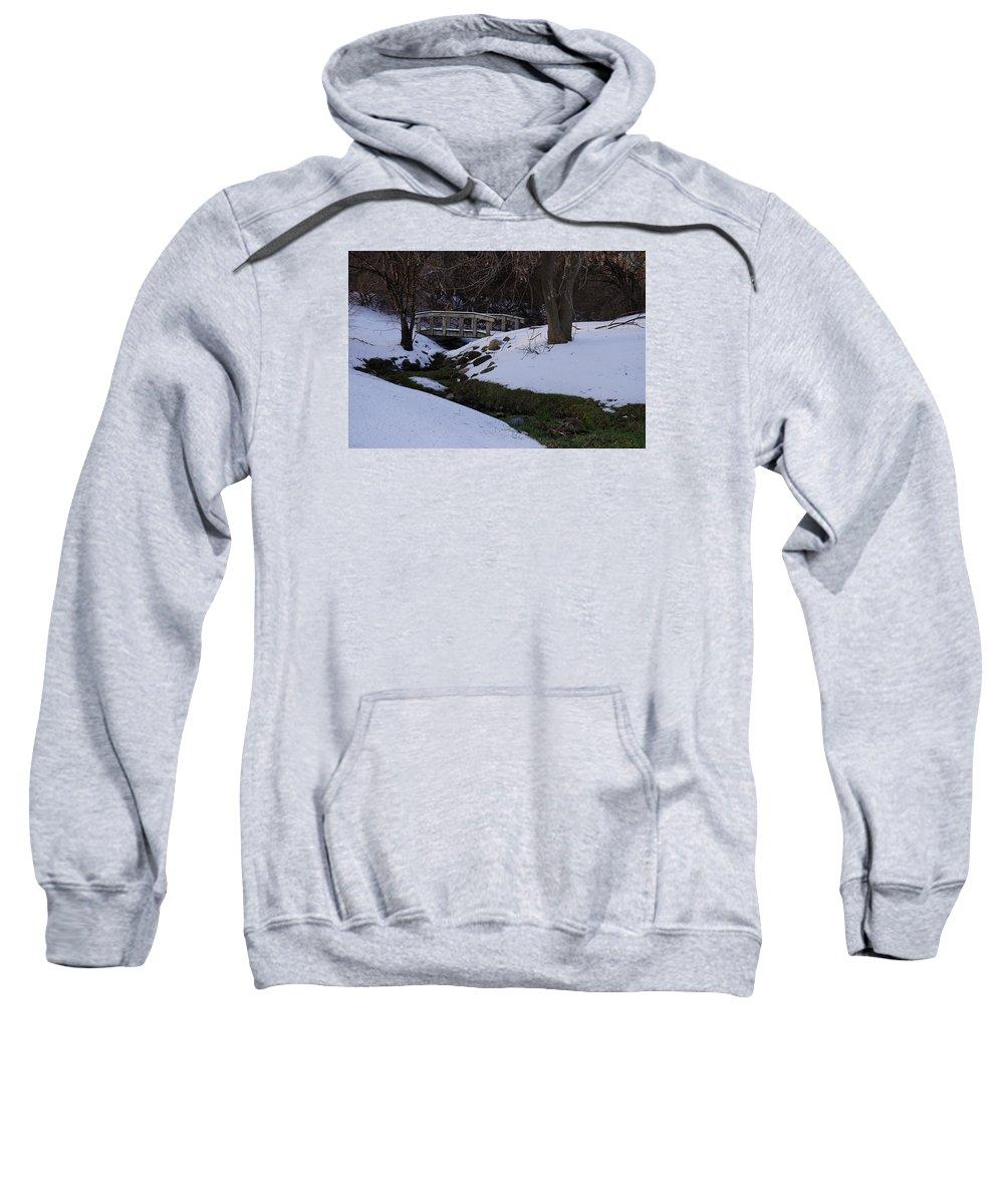 Snow Sweatshirt featuring the photograph Green Creek by Brooke Bowdren