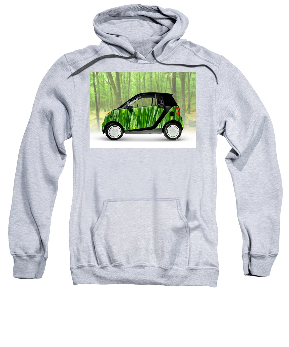 Smart Sweatshirt featuring the photograph Green Mini Car by Oleksiy Maksymenko