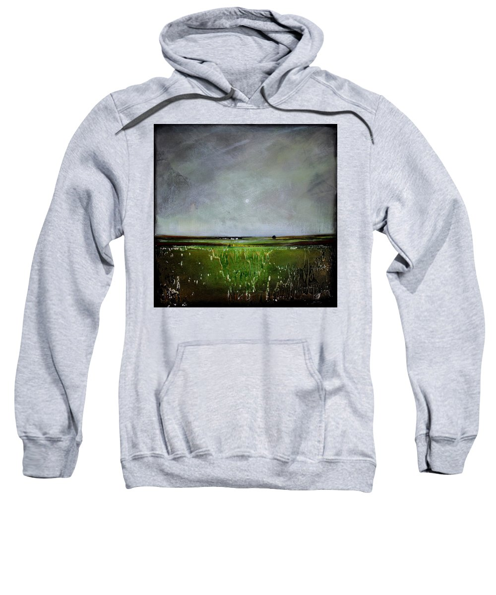 Minimalist Sweatshirt featuring the painting Greener Pastures by Toni Grote