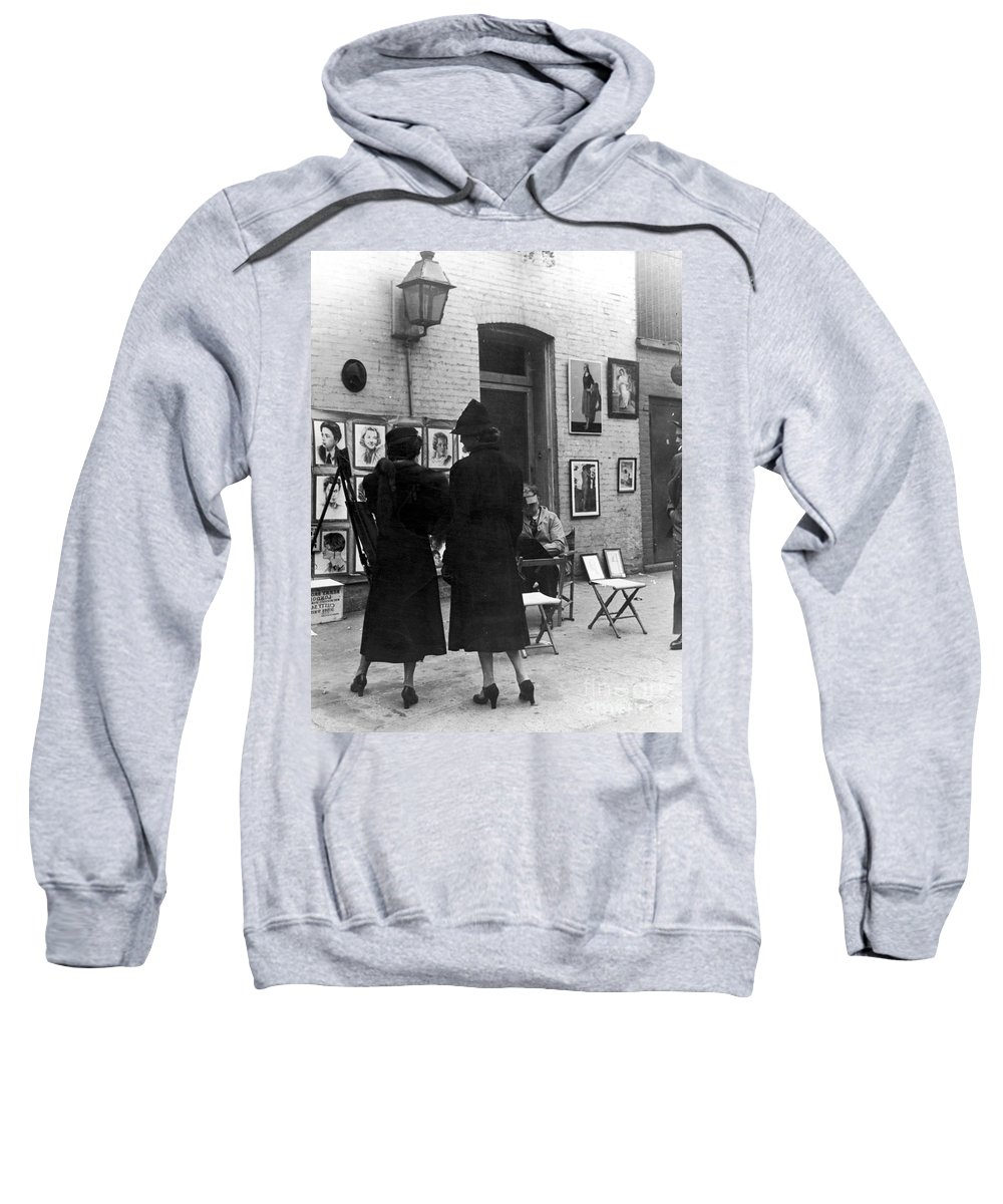 1950s Sweatshirt featuring the photograph Greenwich Village, C1950 by Granger