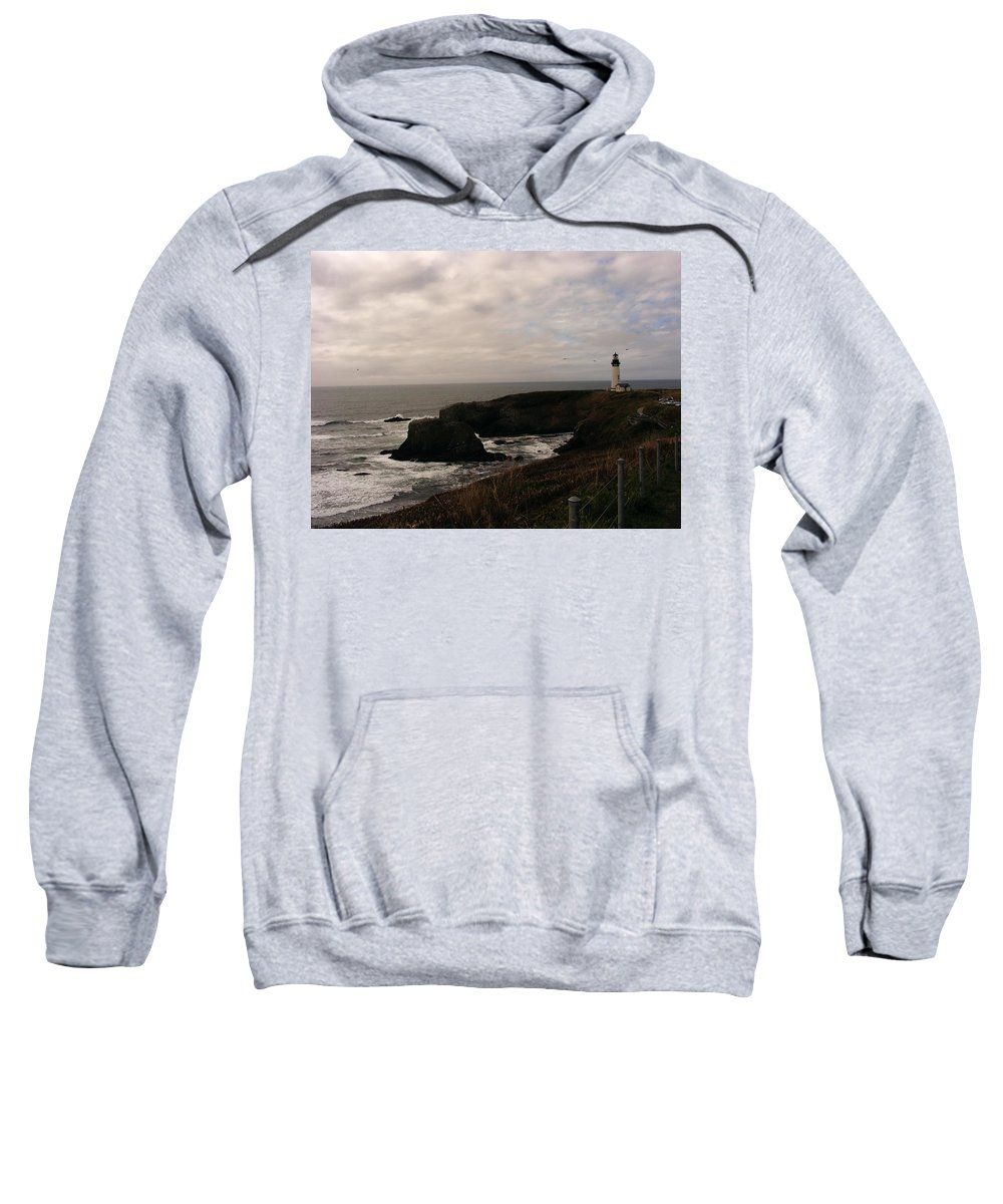 Lighthouses Sweatshirt featuring the photograph Grey Day by Marilyn Smith