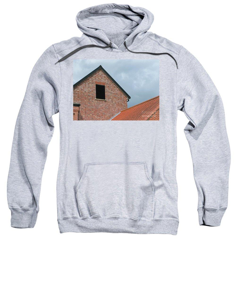 Brick Sweatshirt featuring the photograph Grey Skyline by Ann Horn