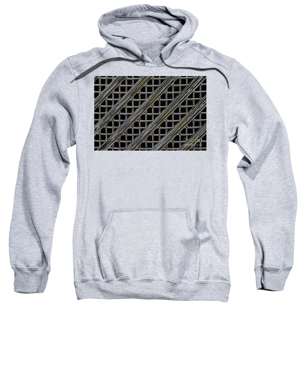 Wendy Sweatshirt featuring the digital art Grille 2 by Wendy Wilton