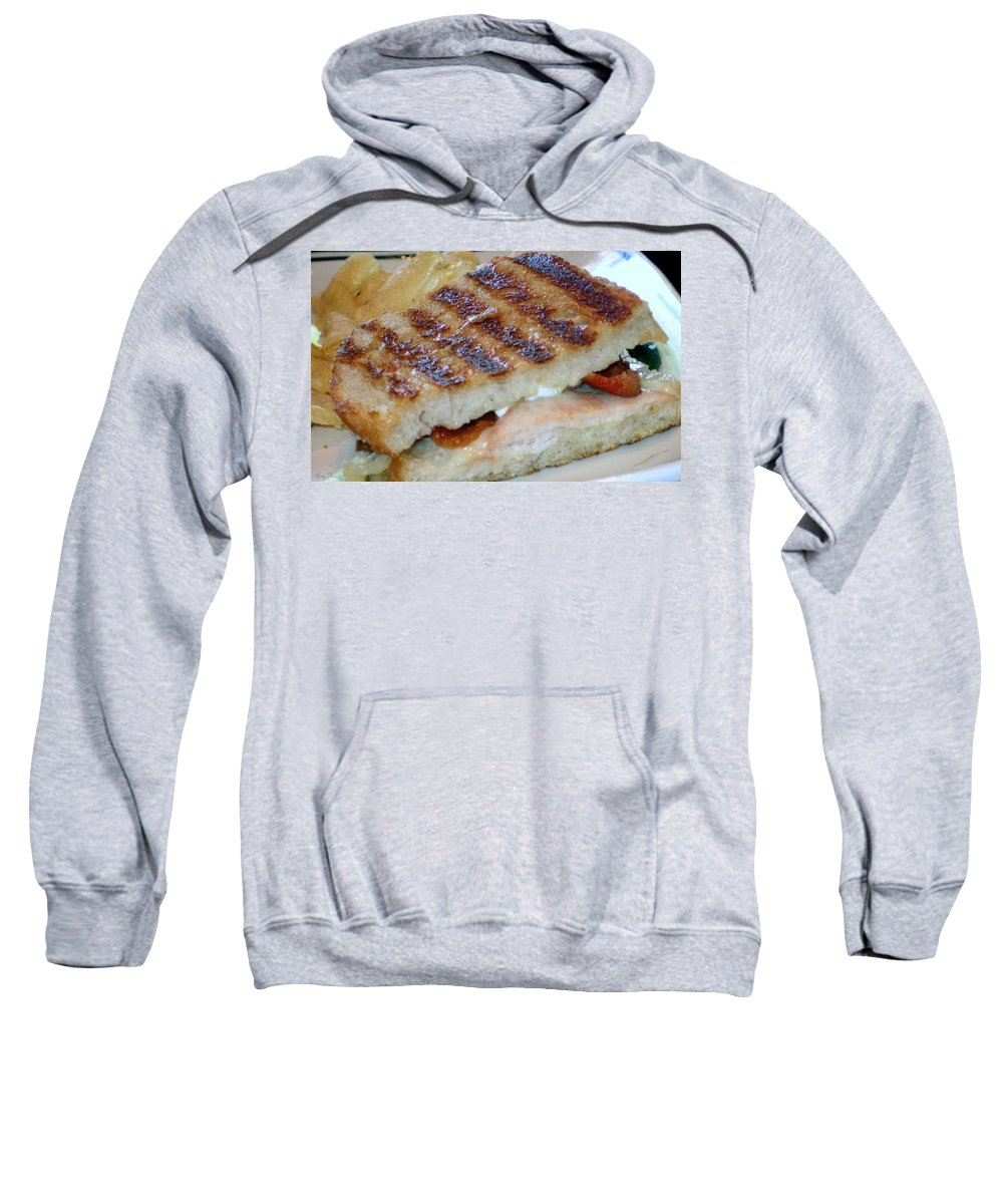 Grilled Sandwhich Sweatshirt featuring the photograph Grilled Sandwhich by Amy Hosp