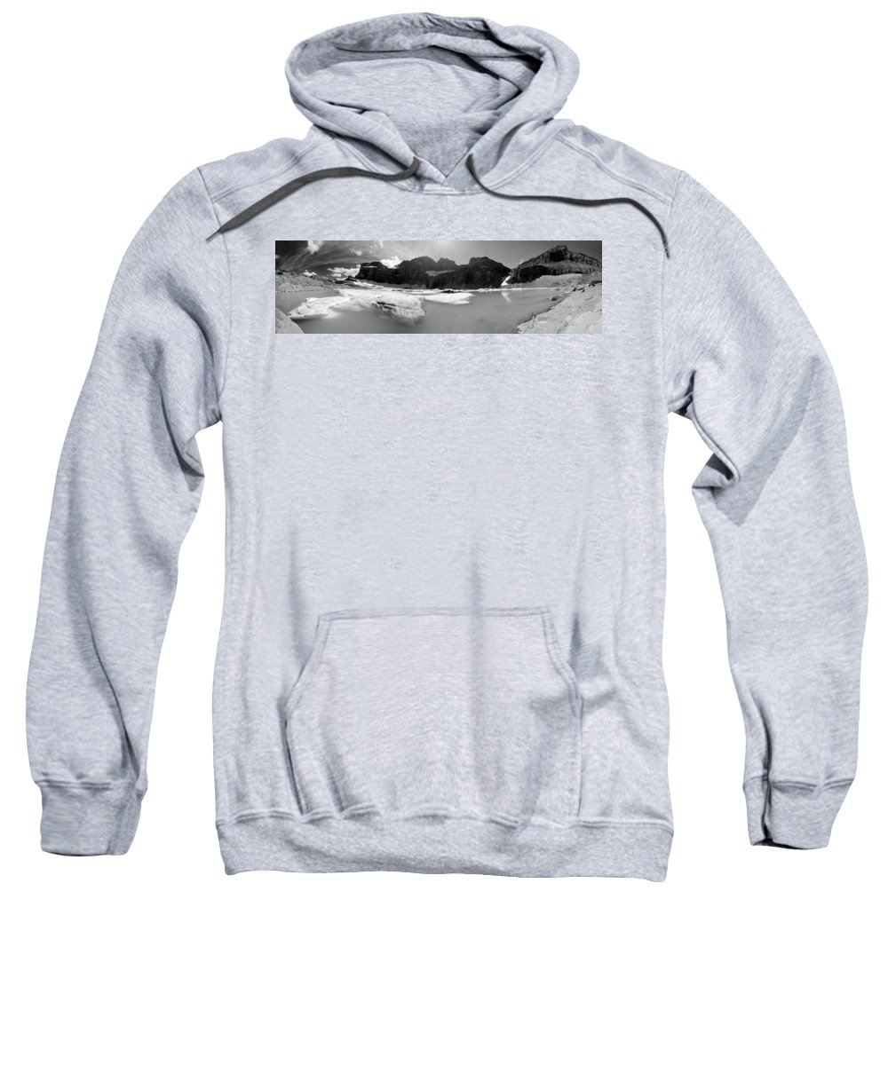 Glacier National Park Sweatshirt featuring the photograph Grinnell Glacier Panorama by Sebastian Musial