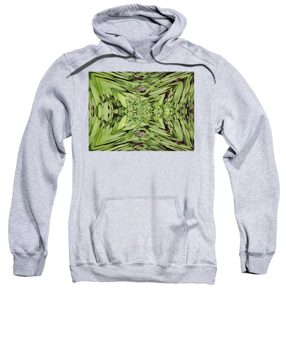 Nature Sweatshirt featuring the digital art Ground Cover Vortex by Tim Allen
