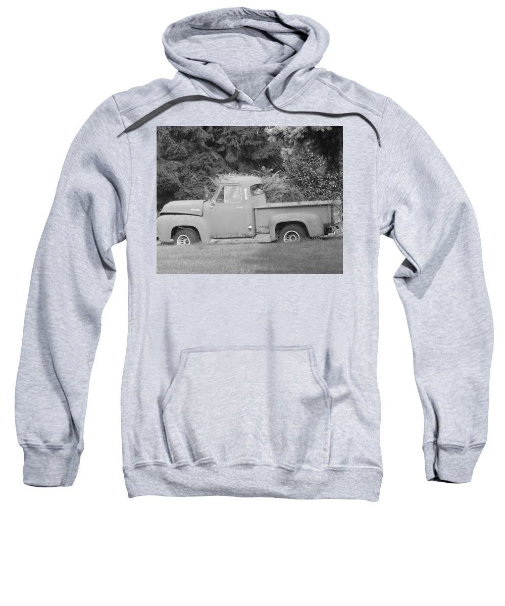 Truck Sweatshirt featuring the photograph Grounded Pickup by Pharris Art