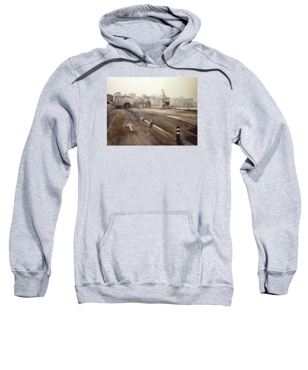 Santander Sweatshirt featuring the painting Grua De Piedra- Santander by Tomas Castano