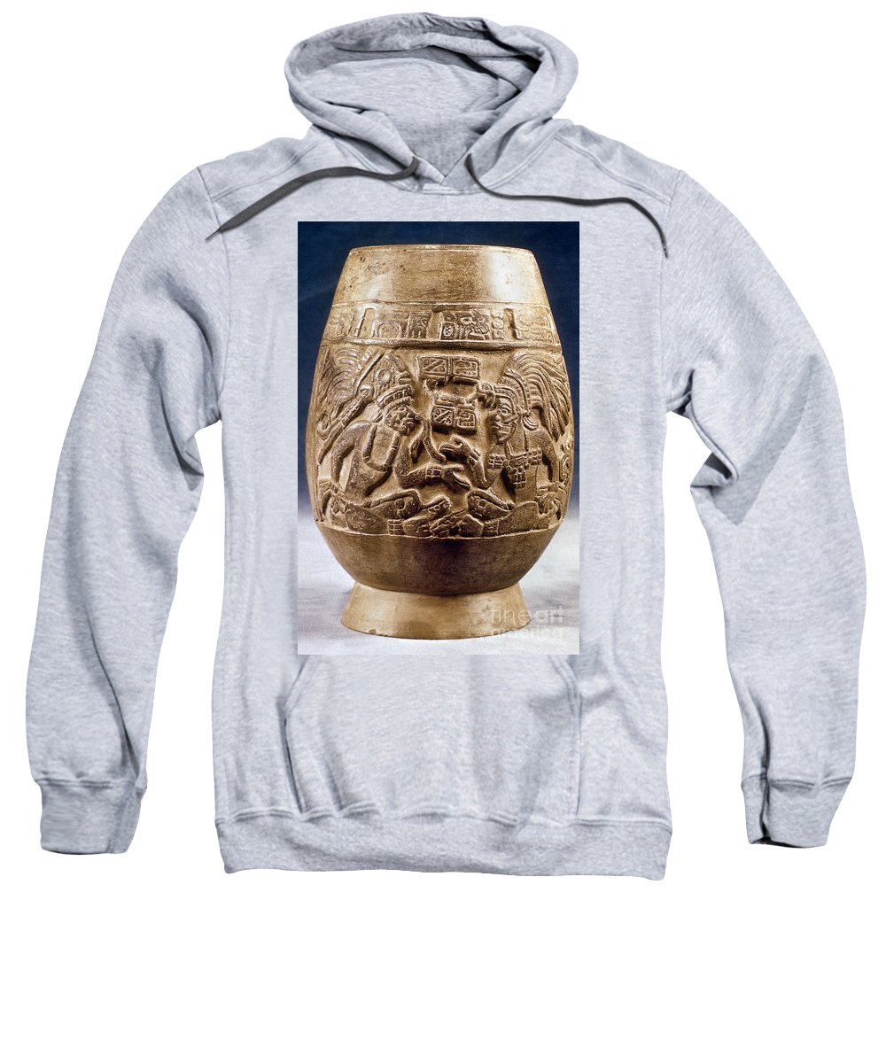 900 Sweatshirt featuring the photograph Guatemala: Mayan Vase by Granger