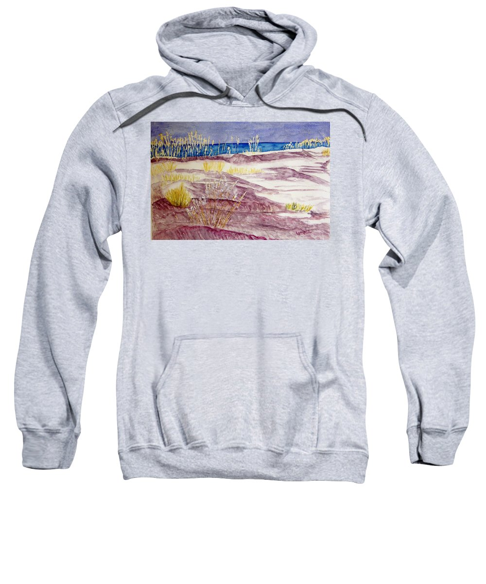 Seascape Sweatshirt featuring the painting Gulf Shores Alabama by Larry Wright