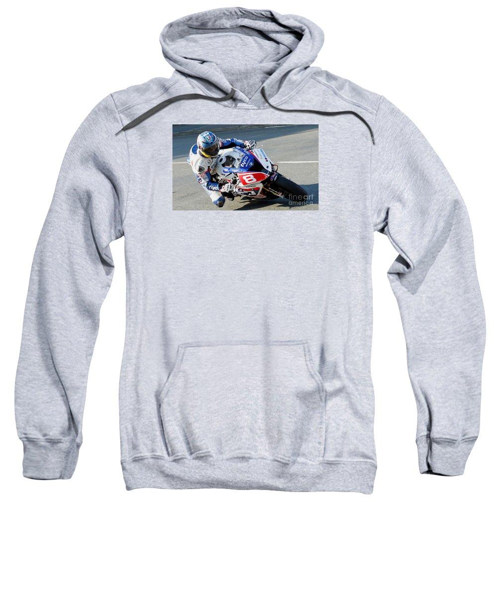 Motorbikes Sweatshirt featuring the photograph Guy Martin 3 by Richard Norton Church