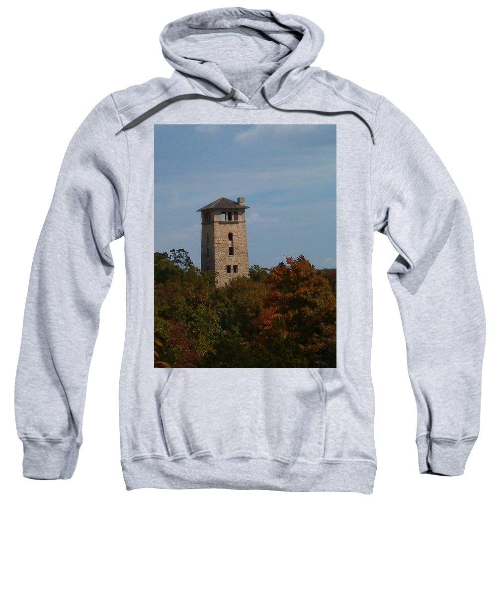 Water Tower Sweatshirt featuring the photograph Ha Ha Tonka Water Tower by Sara Raber