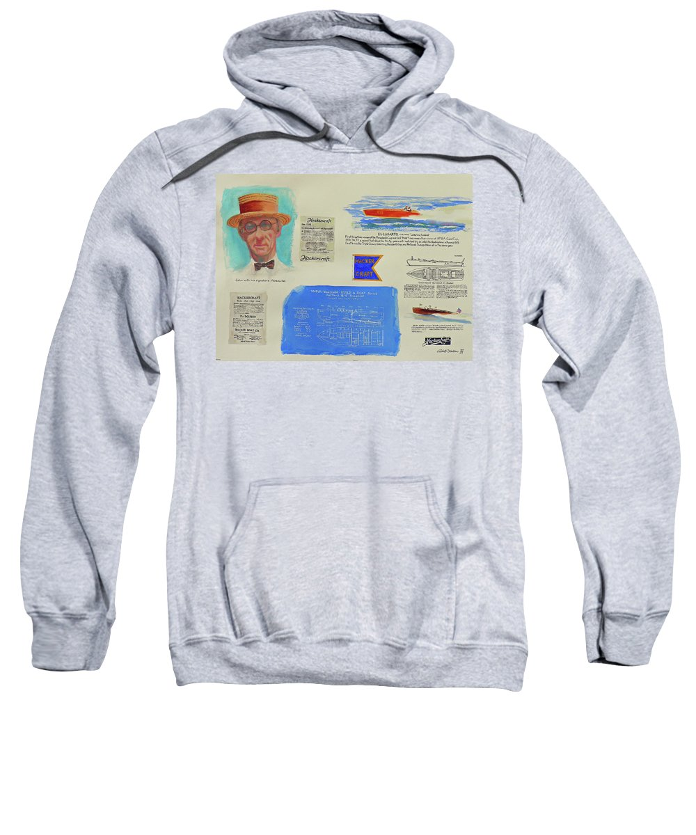 Paintings Sweatshirt featuring the painting Hacker Boat Poster by Robert P Hedden
