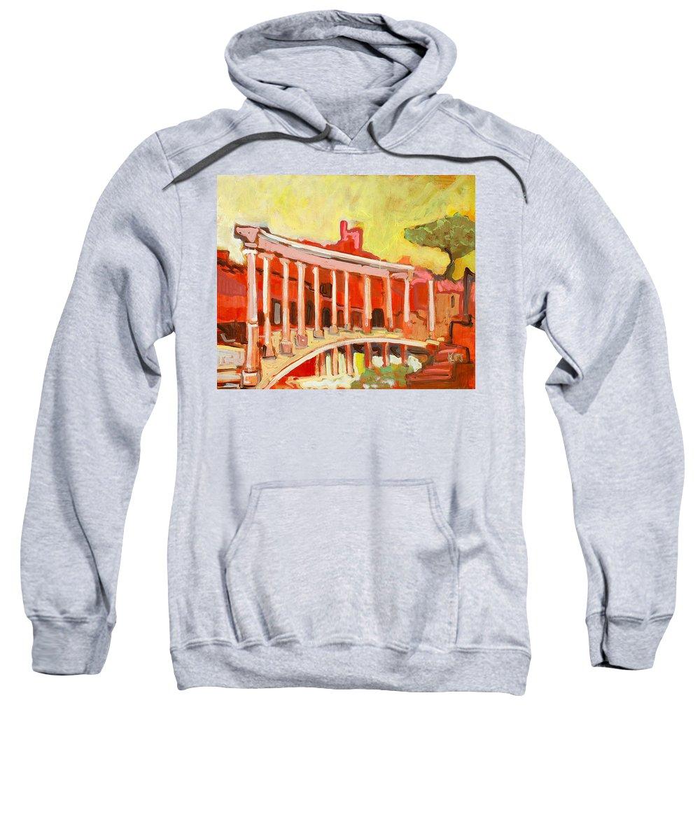 Villa Sweatshirt featuring the painting Hadrian's Villa by Kurt Hausmann