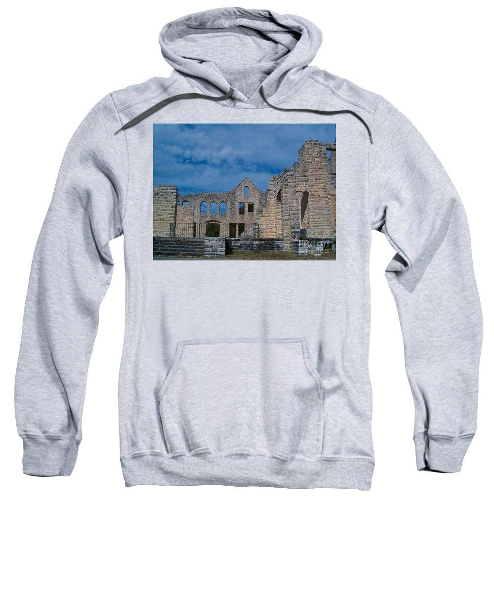 Castle Sweatshirt featuring the photograph Haha Tonka Castle 1 by Sara Raber