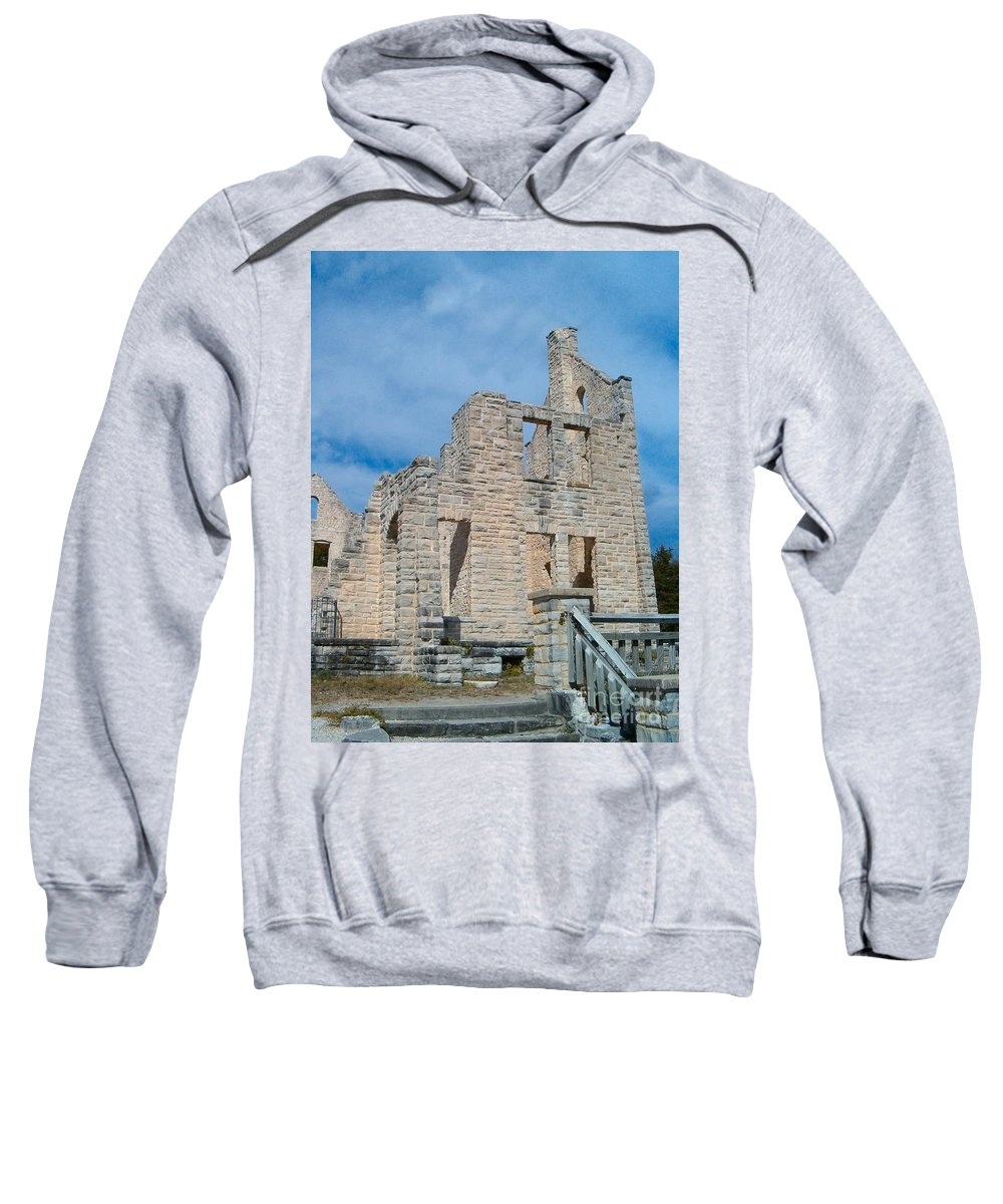 Castle Sweatshirt featuring the photograph Haha Tonka Castle 2 by Sara Raber