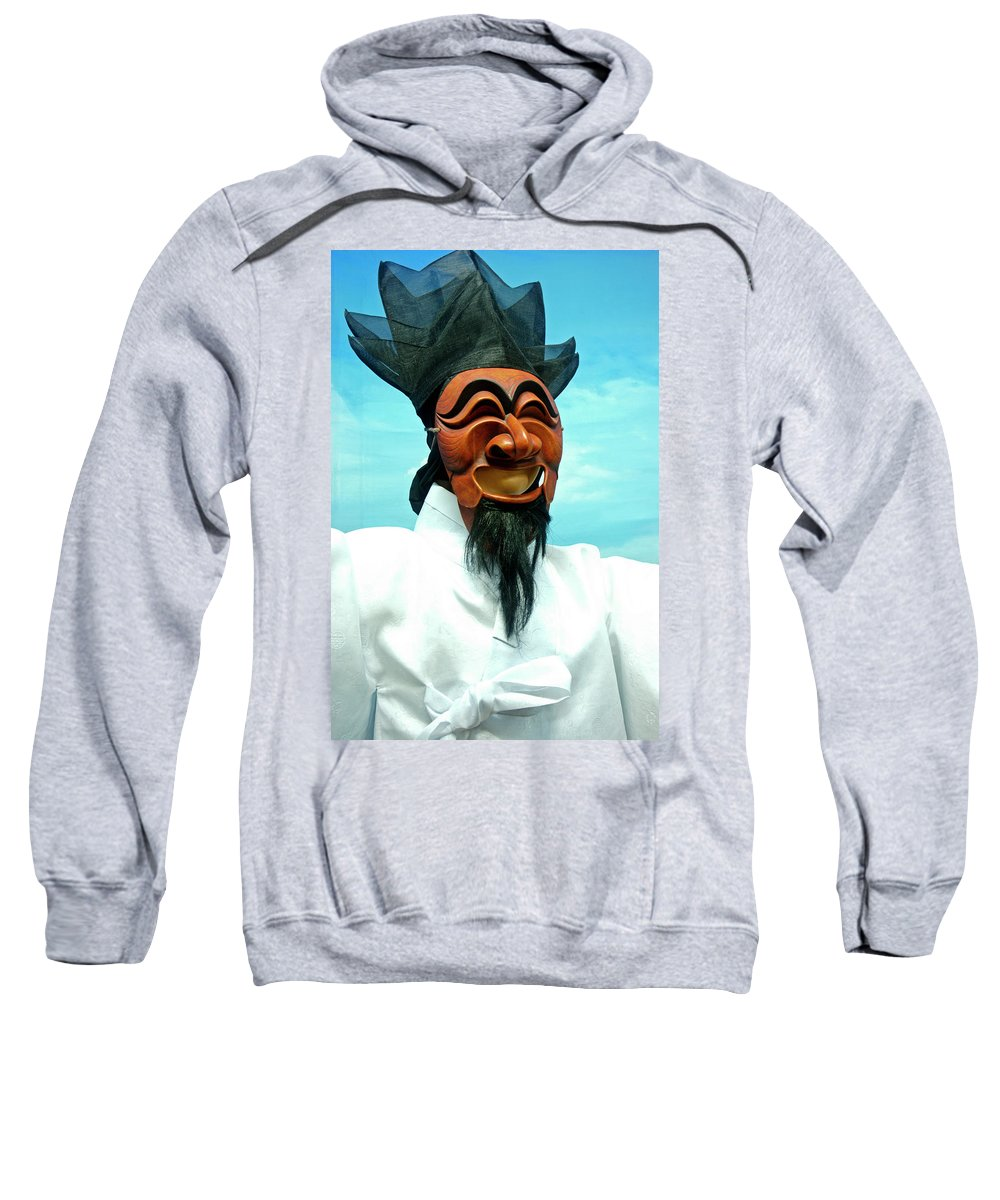 Asia Sweatshirt featuring the photograph Hahoe Mask by Michele Burgess