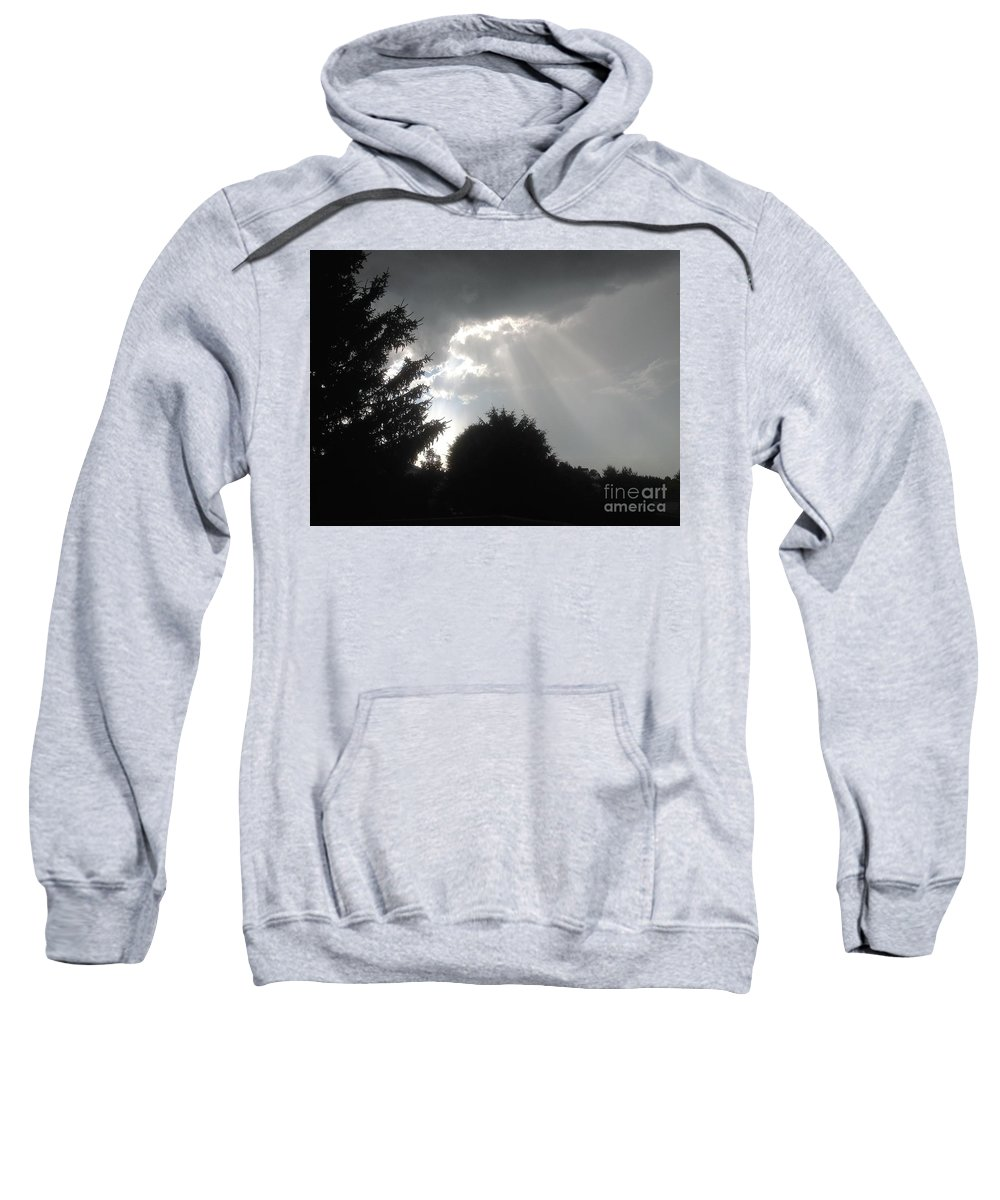 Clouds Sweatshirt featuring the photograph Hail Storm Clouds by Debra Lynch