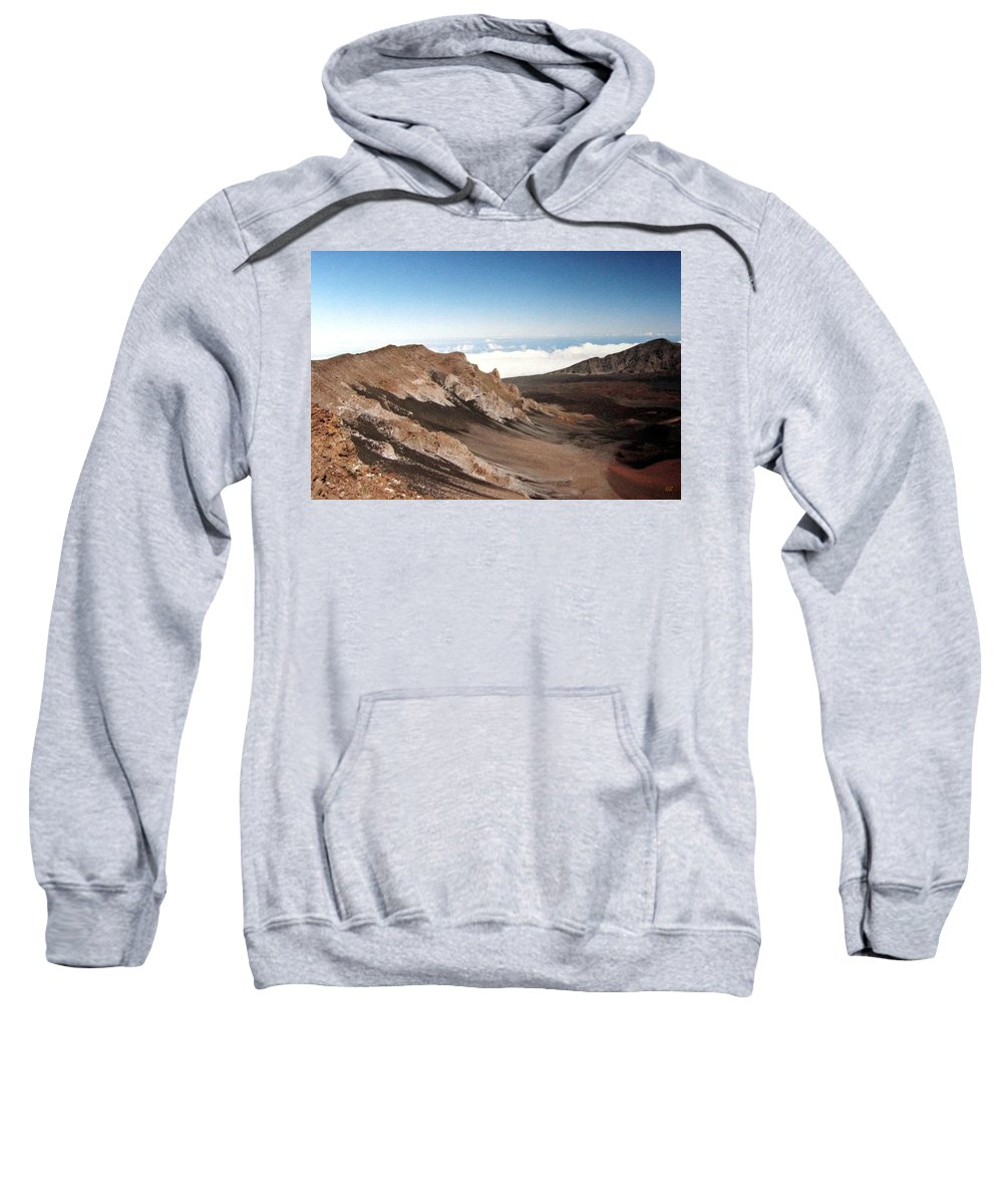 1986 Sweatshirt featuring the photograph Haleakala Crater by Will Borden