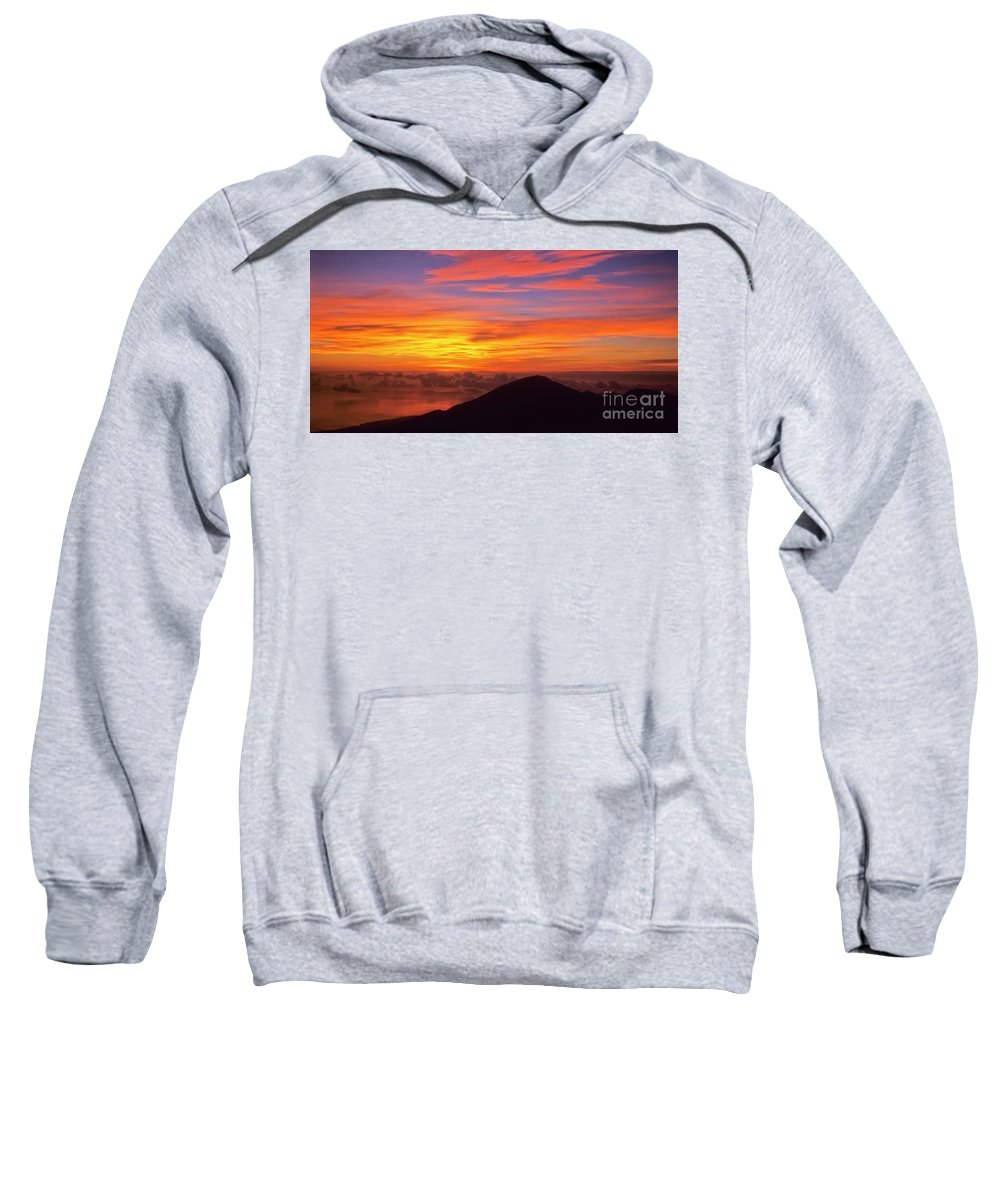 Nature Sweatshirt featuring the photograph Haleakala Sunrise Colors IIi by Jim Cazel