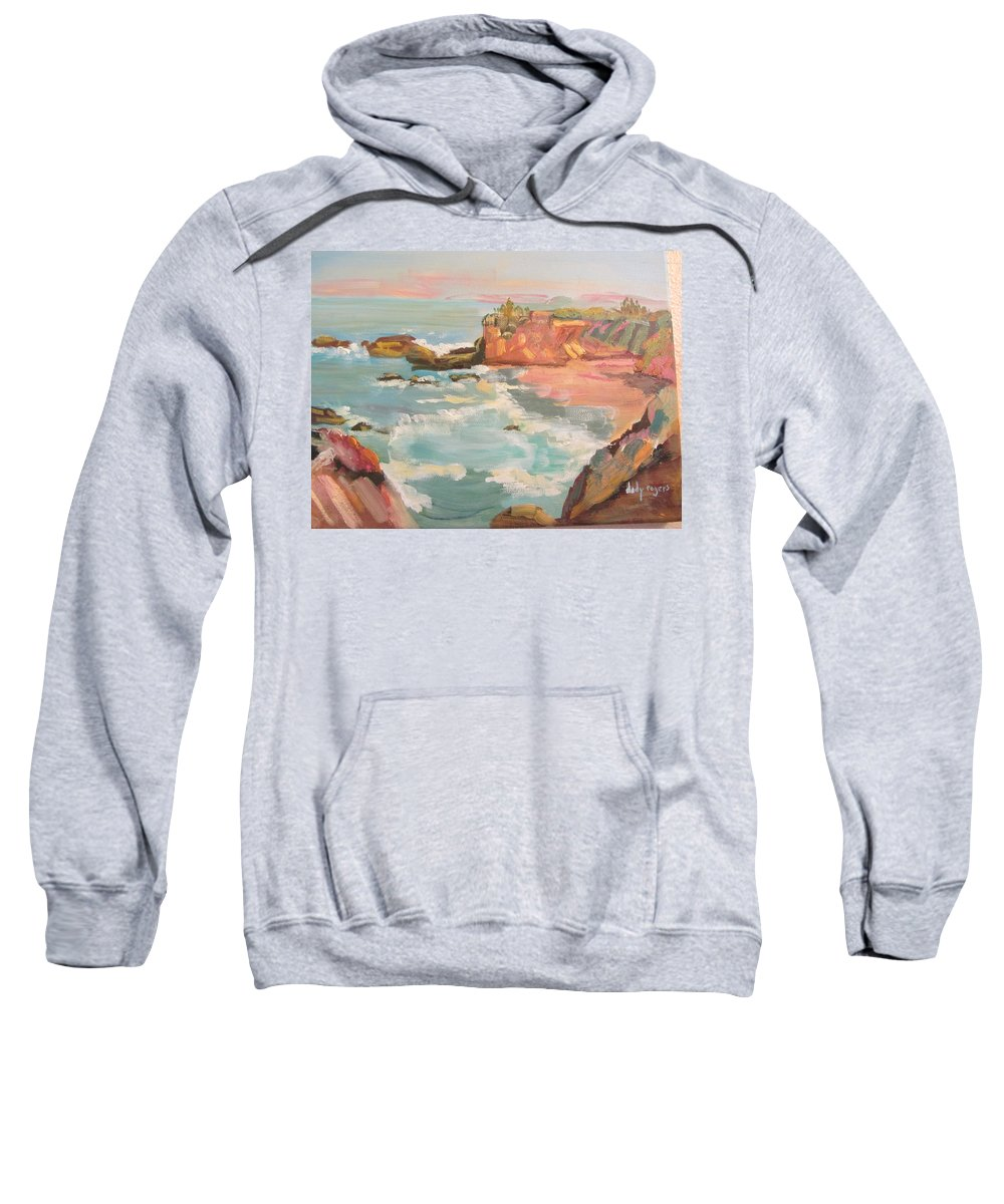 Seascape Sweatshirt featuring the painting Half Moon Bay by Dody Rogers