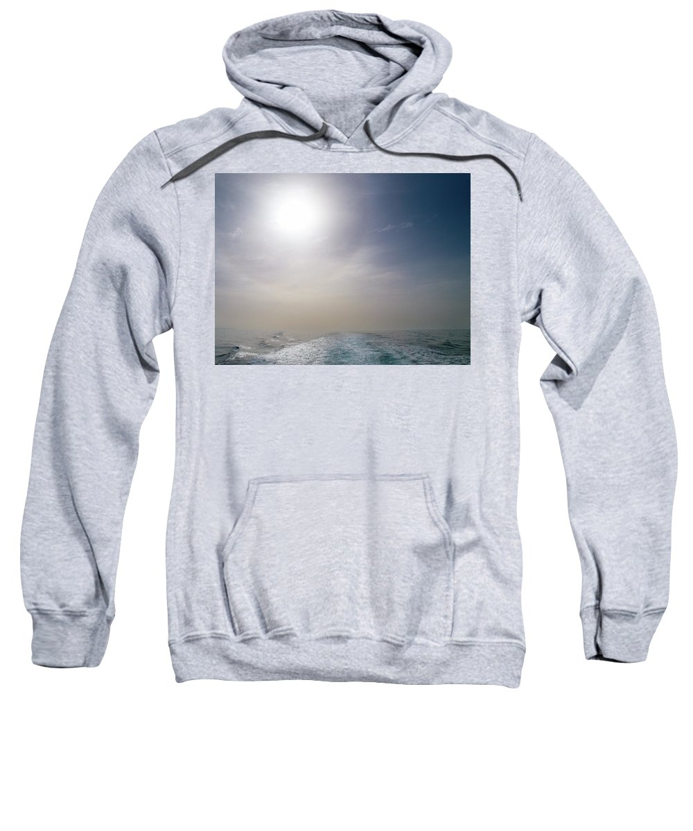 Valasretki Sweatshirt featuring the photograph Halo Over Atlantic Ocean by Jouko Lehto