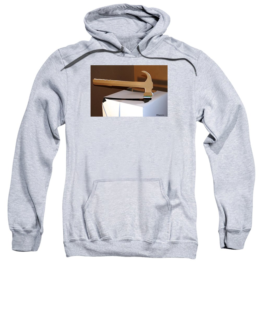 Mr Roboman Sweatshirt featuring the sculpture Hammer 4 by Mr ROBOMAN